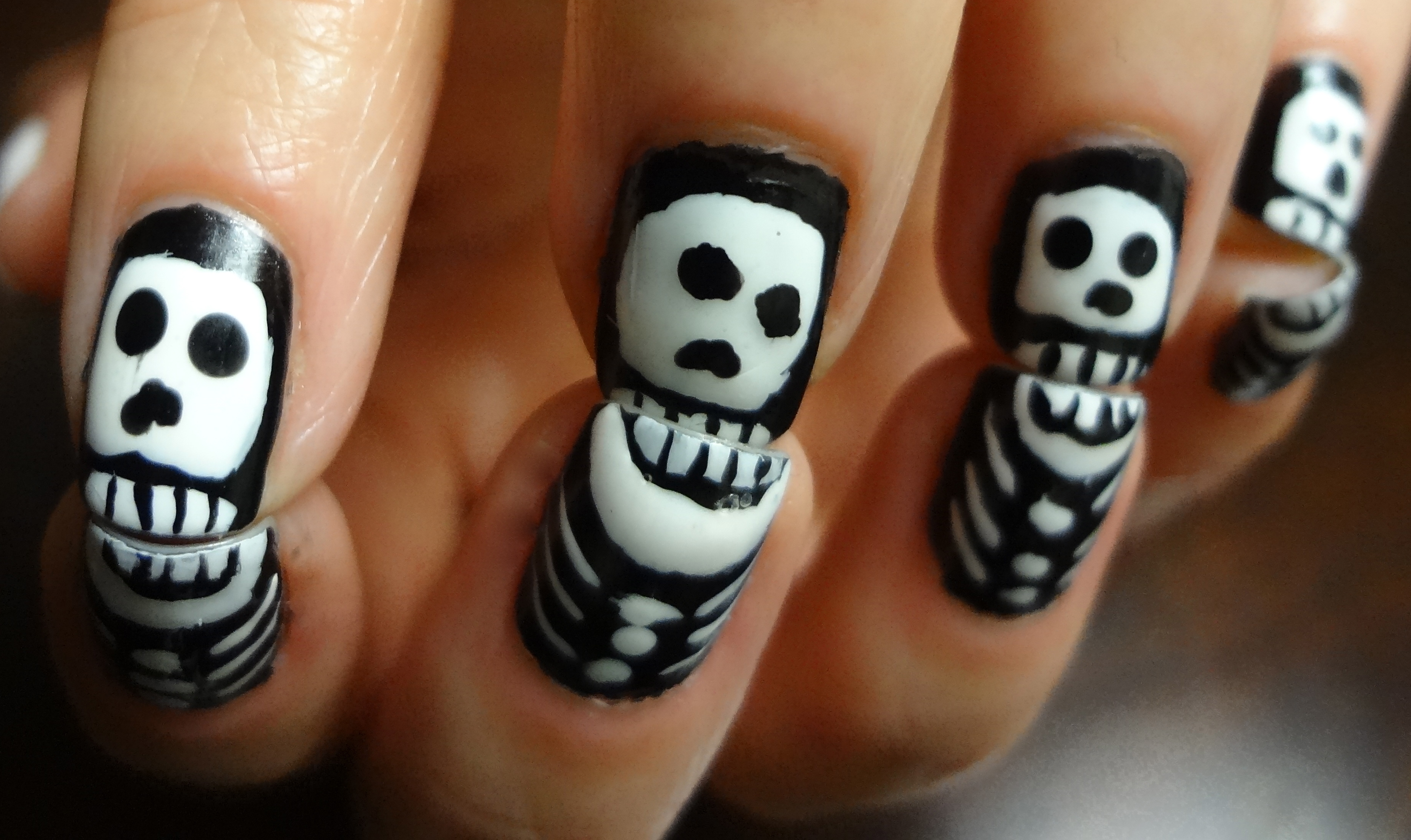 Skeleton Nails Nail Adventures